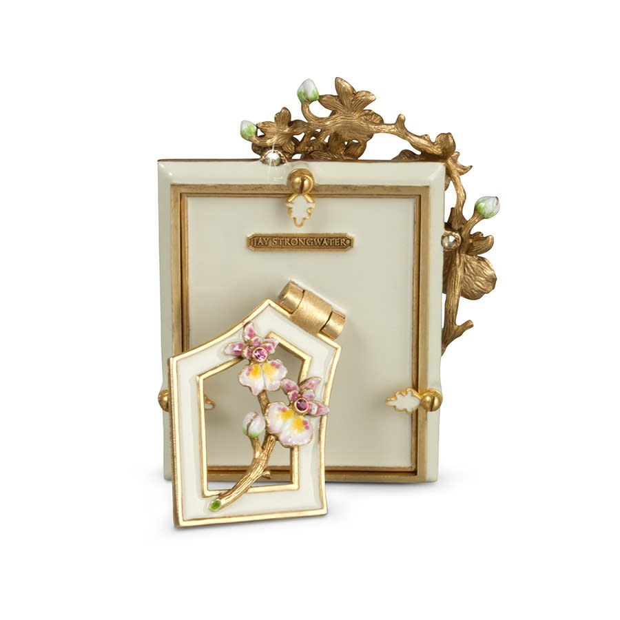 """Jay Strongwater Kelsey Orchid 3"""" x 4"""" Frame"""