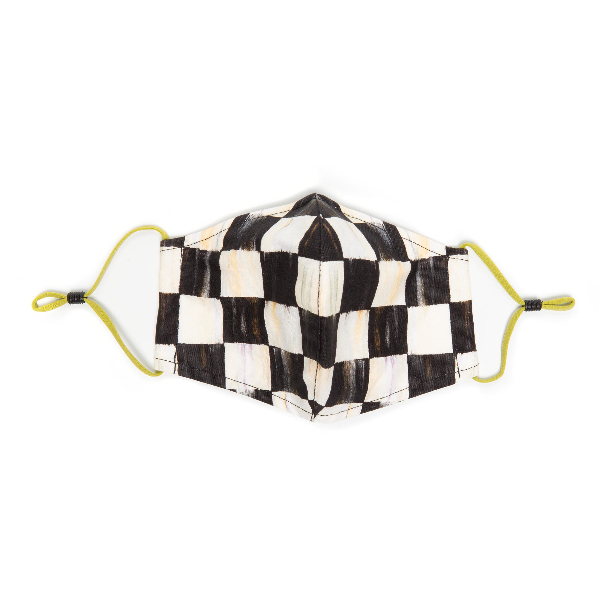 MacKenzie Childs Courtly Check face mask - cone