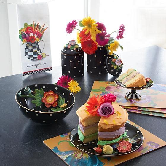 MacKenzie Childs Floradot Platter