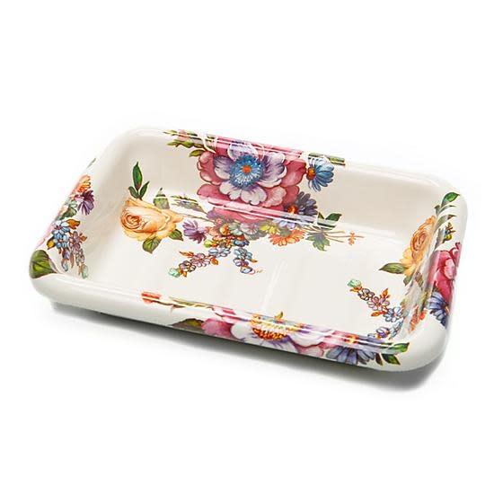 MacKenzie Childs Flower Market Enamel Simply Soap Dish