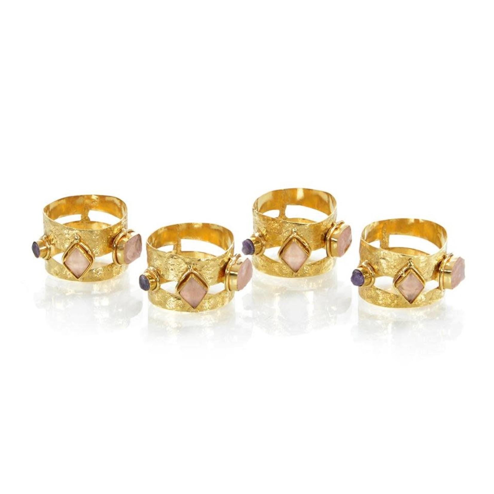 John Richard Set of Four Opulent Napkin Rings