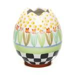 MacKenzie Childs Tulip Garden Egg Vase - Limited Edition