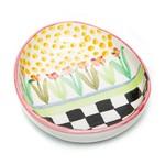 MacKenzie Childs Tulip Garden Egg Dish