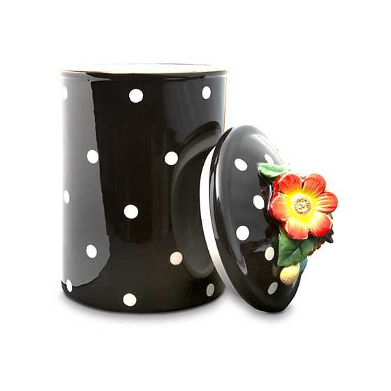 MacKenzie Childs Floradot Canister - Large
