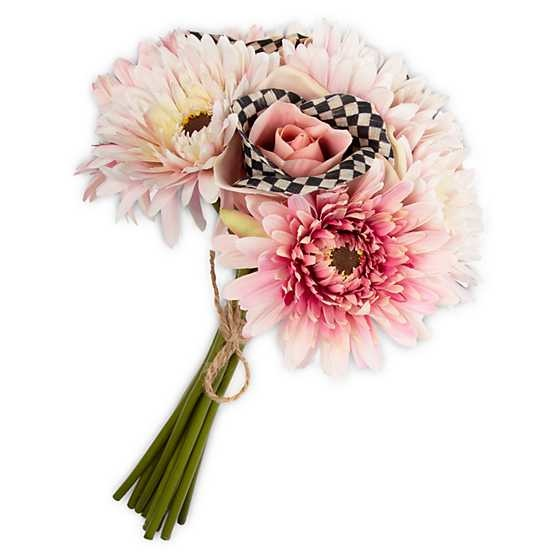 MacKenzie Childs Courtly Check Bouquet - Pink
