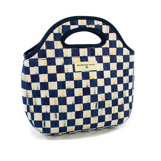 MacKenzie Childs Royal Check Lunch Tote