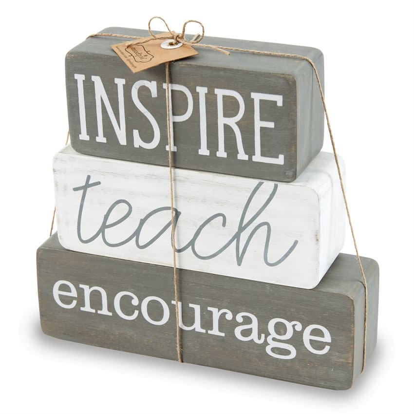 MudPie TEACHER BLOCK DECOR