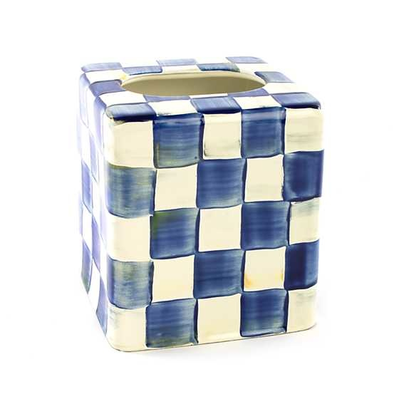 MacKenzie Childs Royal Check Boutique Tissue BoxCover