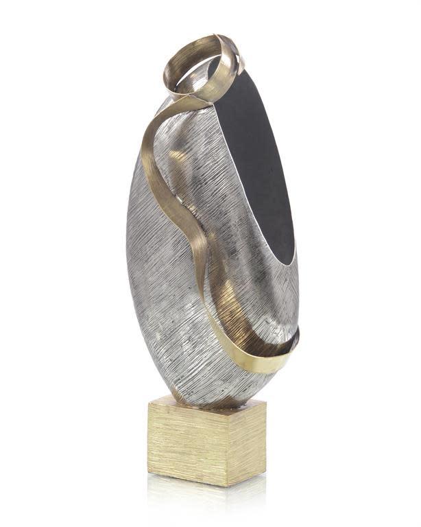 John Richard Floating Vessel of Brass with Antique Nickel