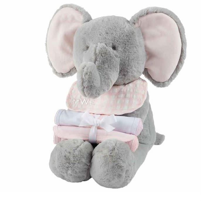 MudPie PINK ELEPHANT GIFT SET