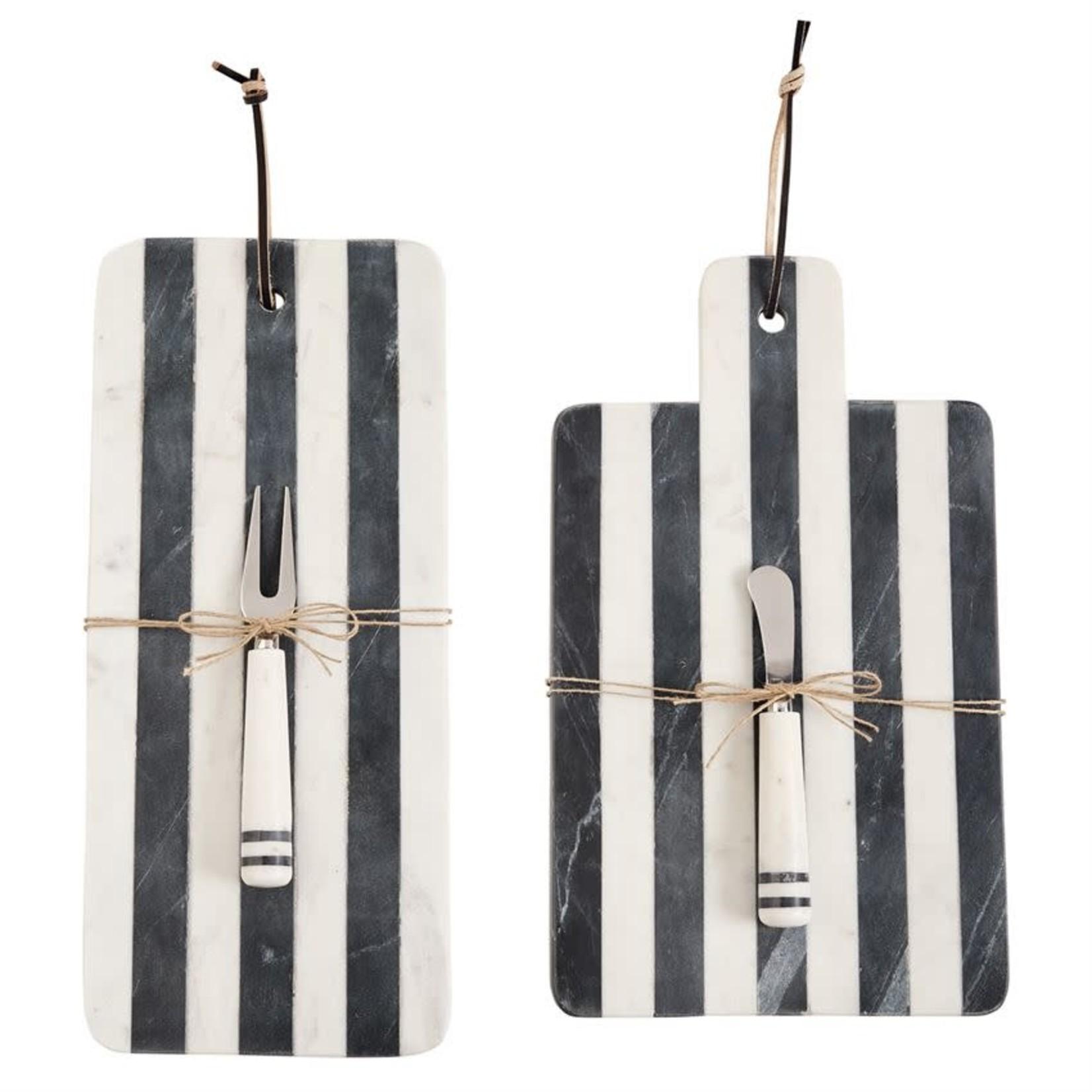 MudPie Long Stripe Marble Board