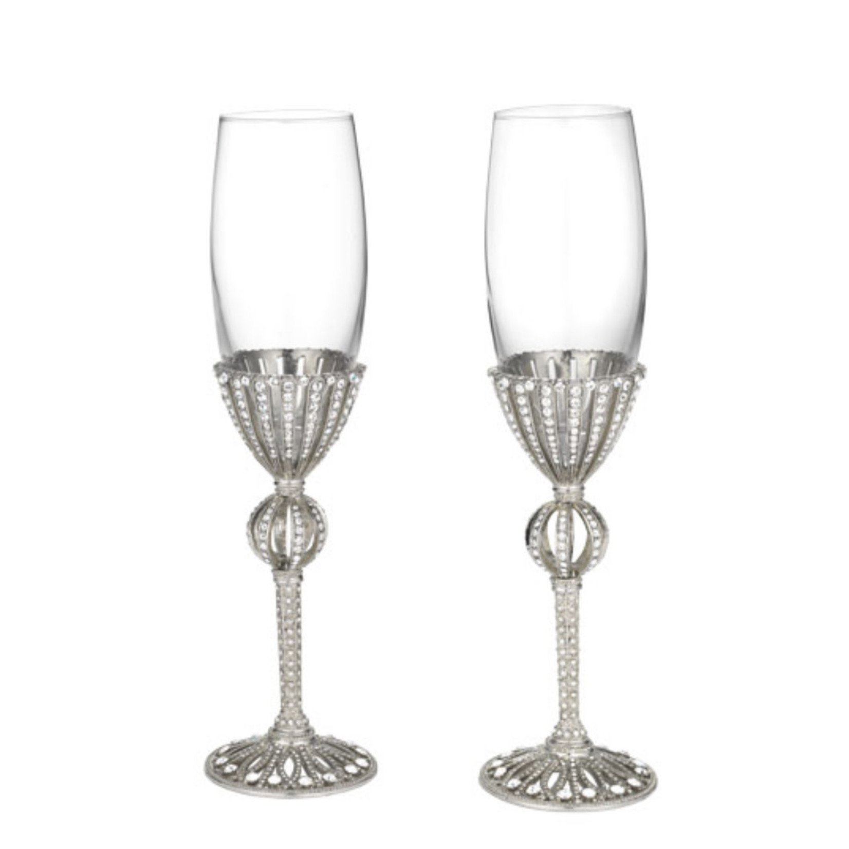 Silver Emerson Flute Set of 2