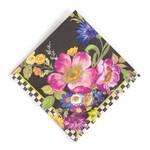 MacKenzie Childs Flower Market Paper Napkins - Cocktail - Black