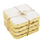 MudPie GOLD MARBLE COASTER SET
