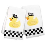 MacKenzie Childs Rubber Ducky Hand Towels - Set of 2