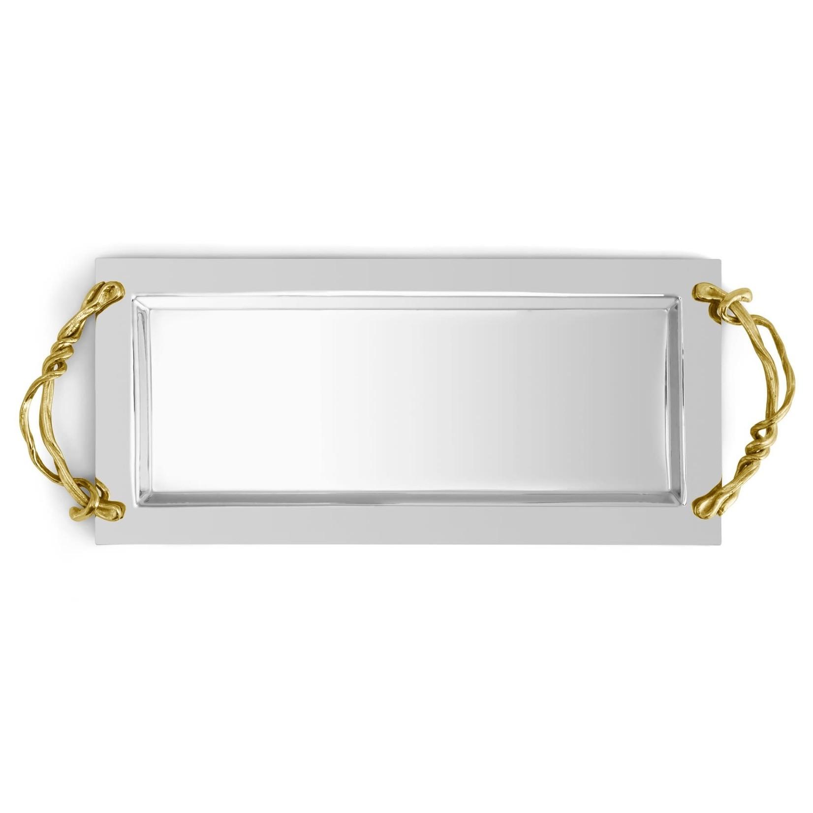 Michael Aram Wisteria Gold Vanity Tray