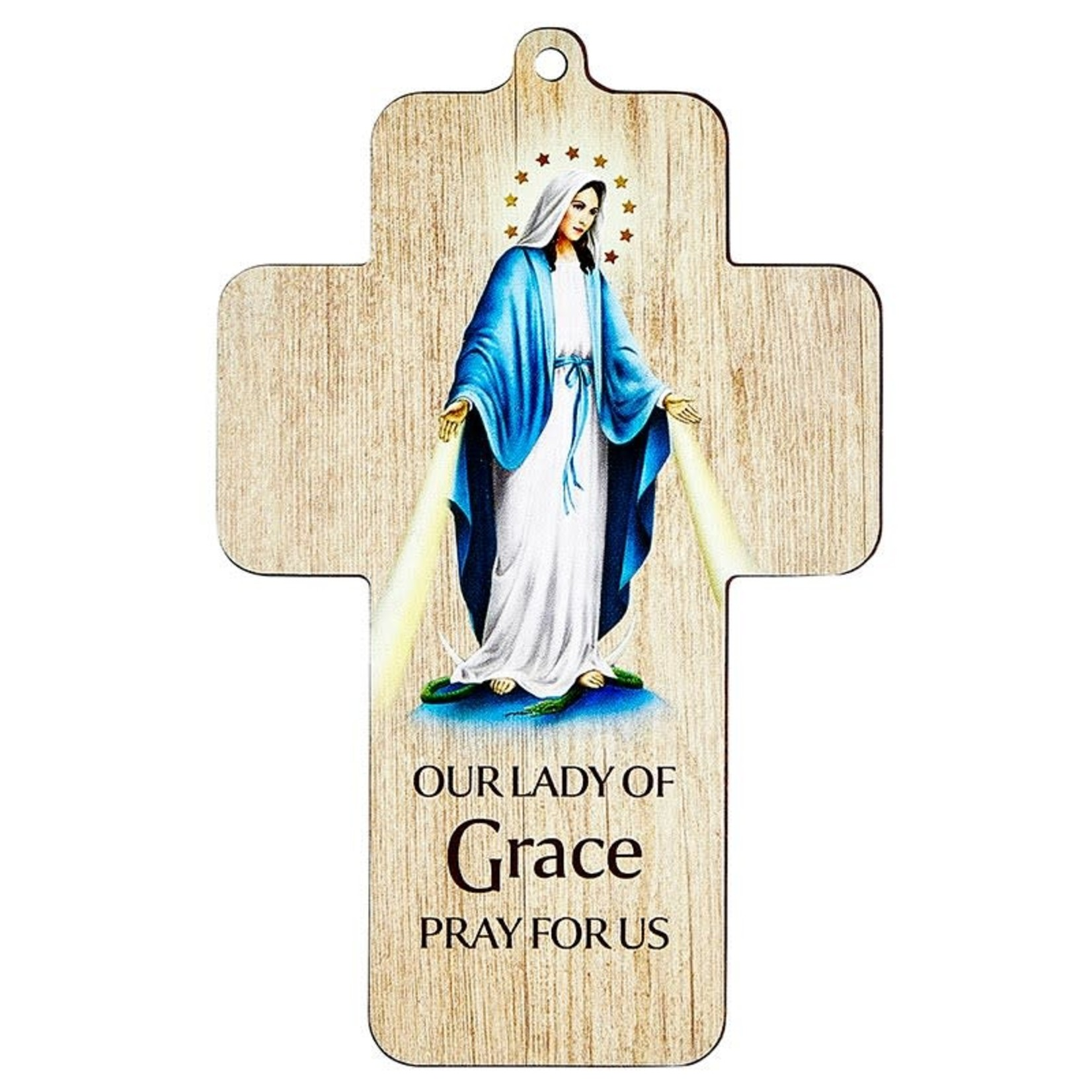 Our Lady Of Grace Lasered Wall Cross