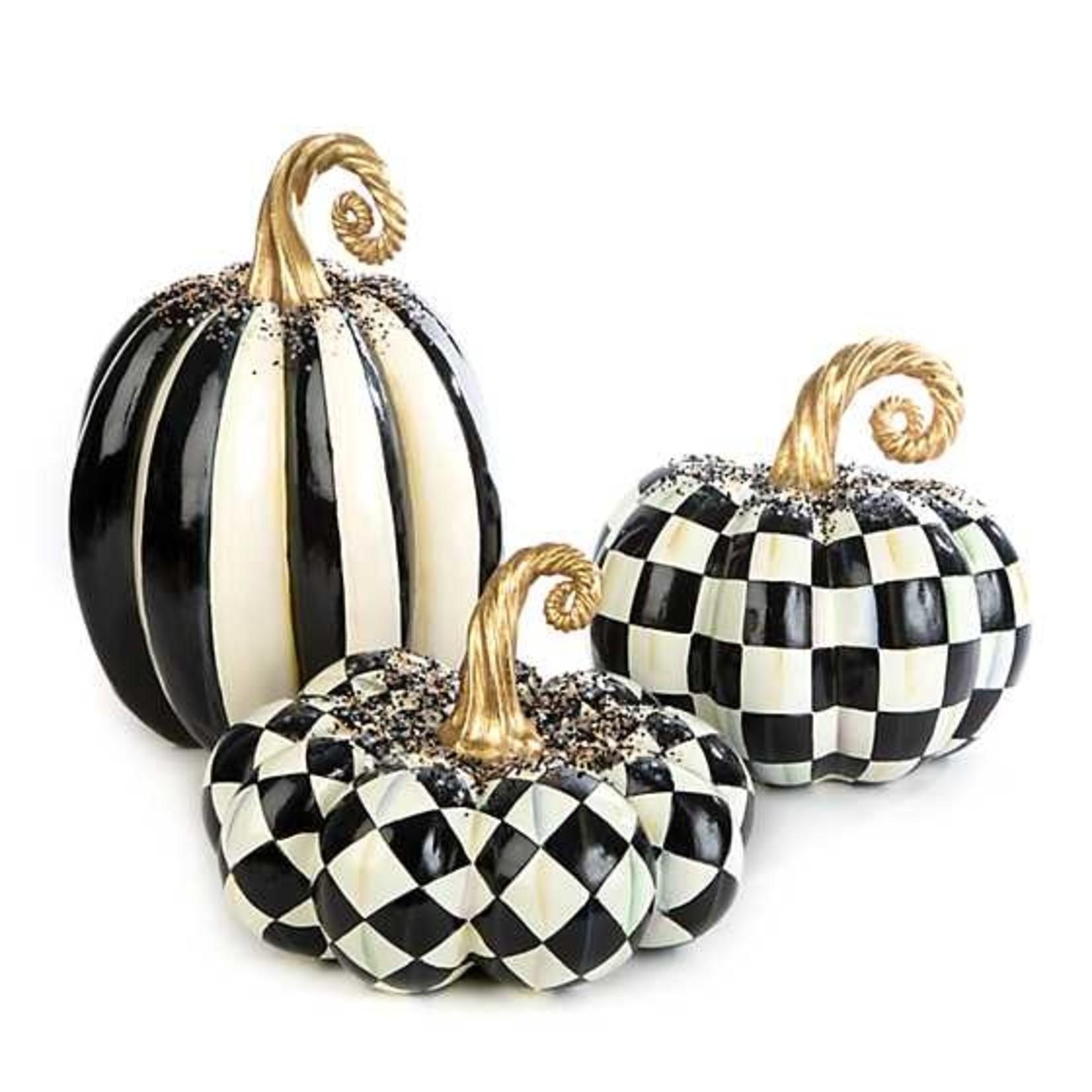 MacKenzie Childs Beaded Harlequin Squashed Pumpkin