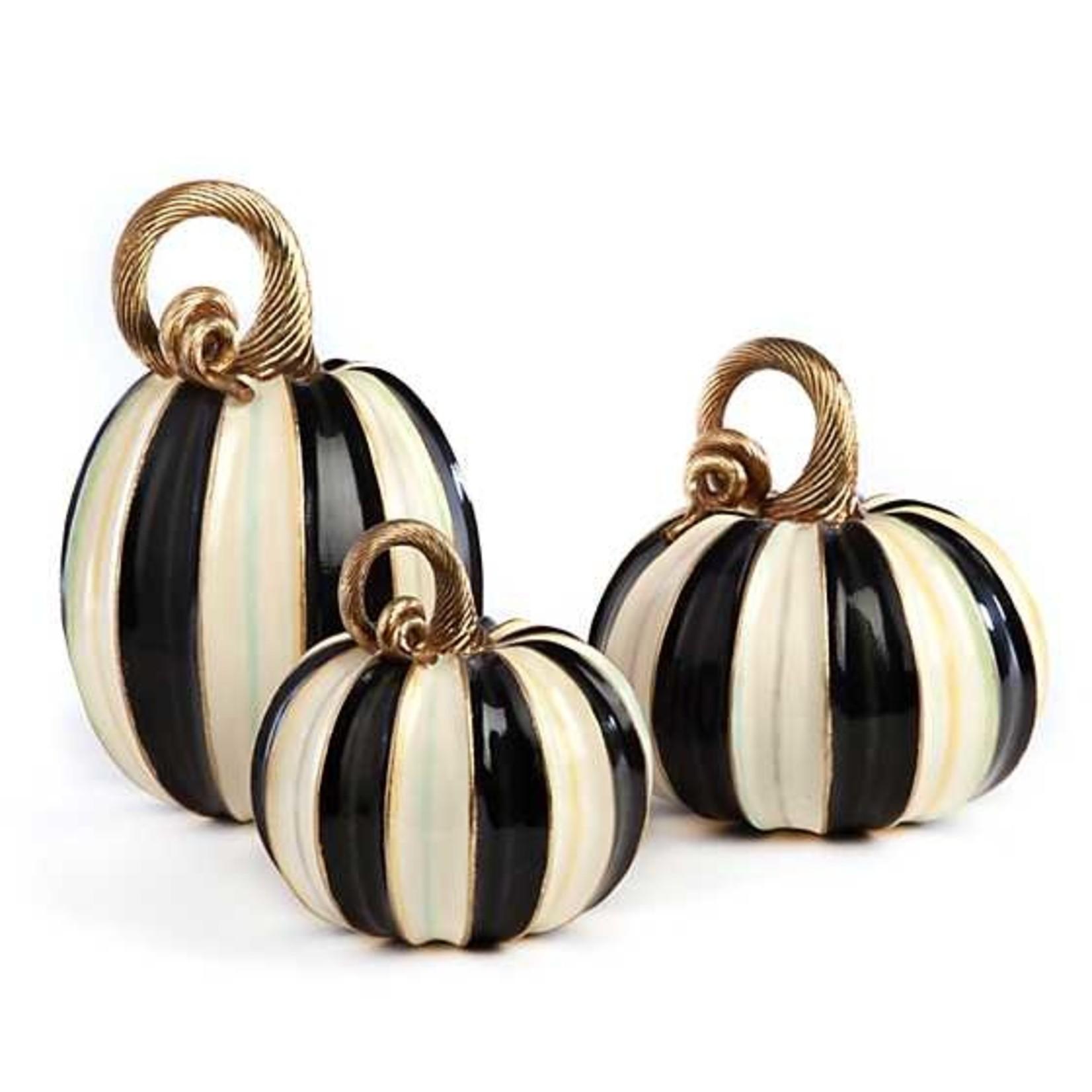 MacKenzie Childs Elegant Stripe Pumpkin - Small