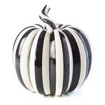 MacKenzie Childs Courtly Pinstripe Pumpkin - Small