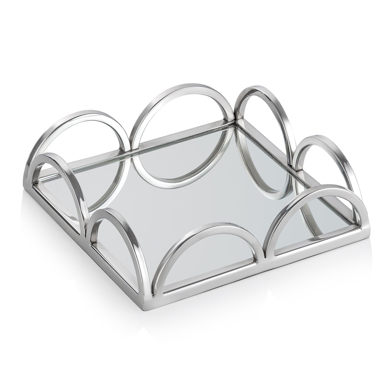Square Napkin Holder/ Mirror Tray with Loop Design