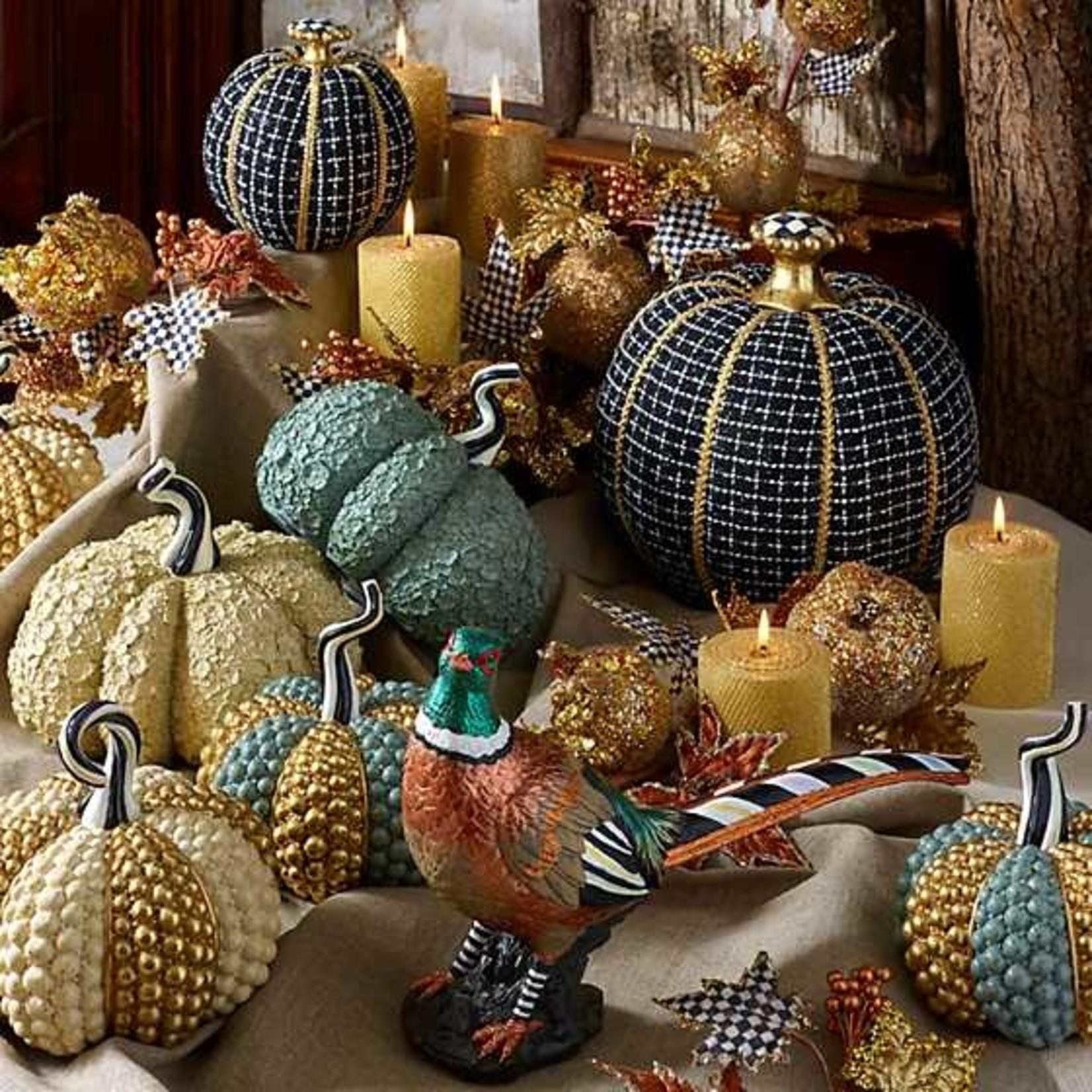 MacKenzie Childs Autumn Harvest Pumpkin - Ivory Jewel