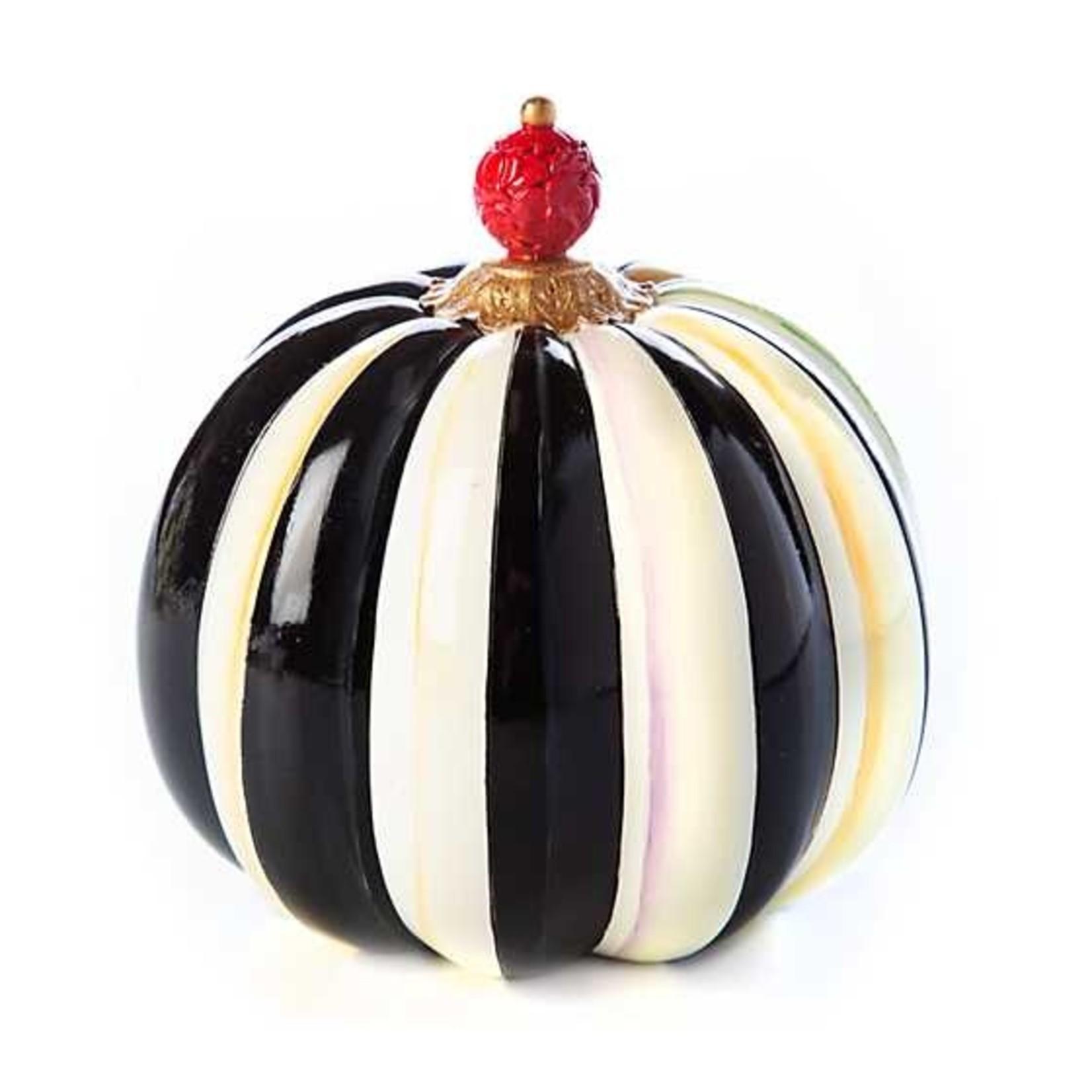 MacKenzie Childs Finial Stripe Pumpkin - Mini
