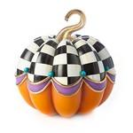 MacKenzie Childs Fairytale Check Pumpkin