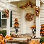 MacKenzie Childs Fairytale Stripe Pumpkin