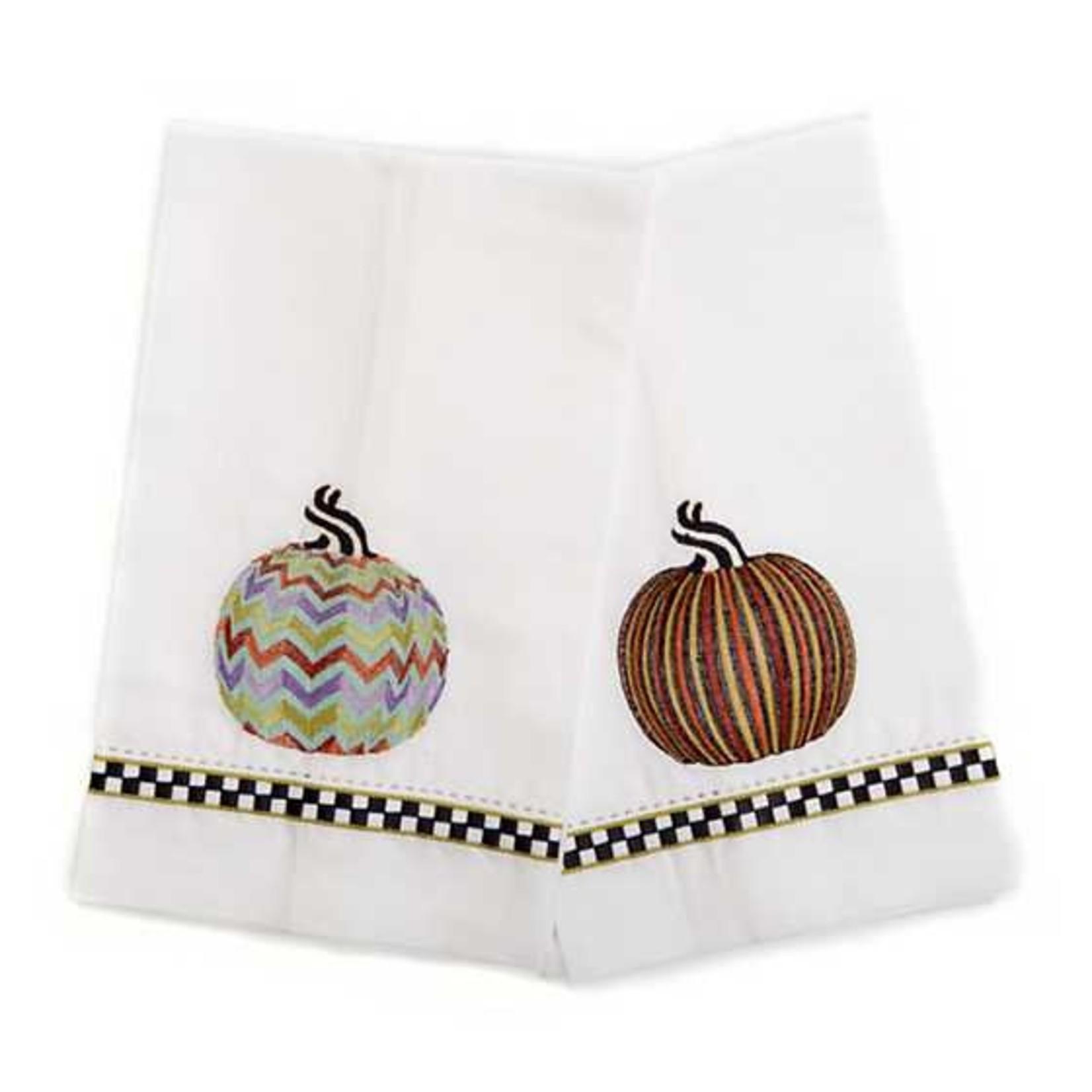 MacKenzie Childs Pumpkin Guest Towels - Set of 2