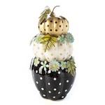 MacKenzie Childs Floral Pumpkin Topiary