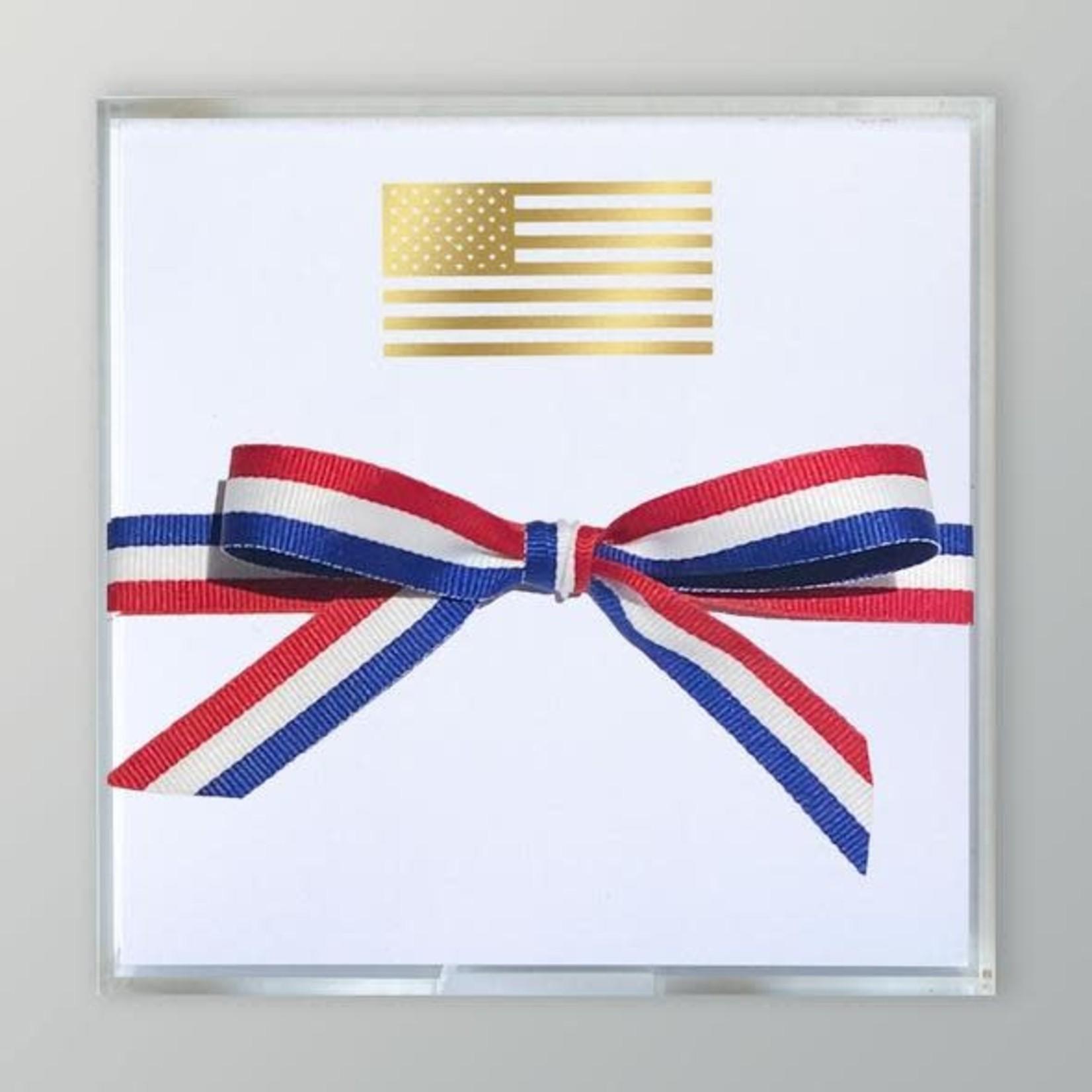 Black Ink Gold Foil Paddie Flag