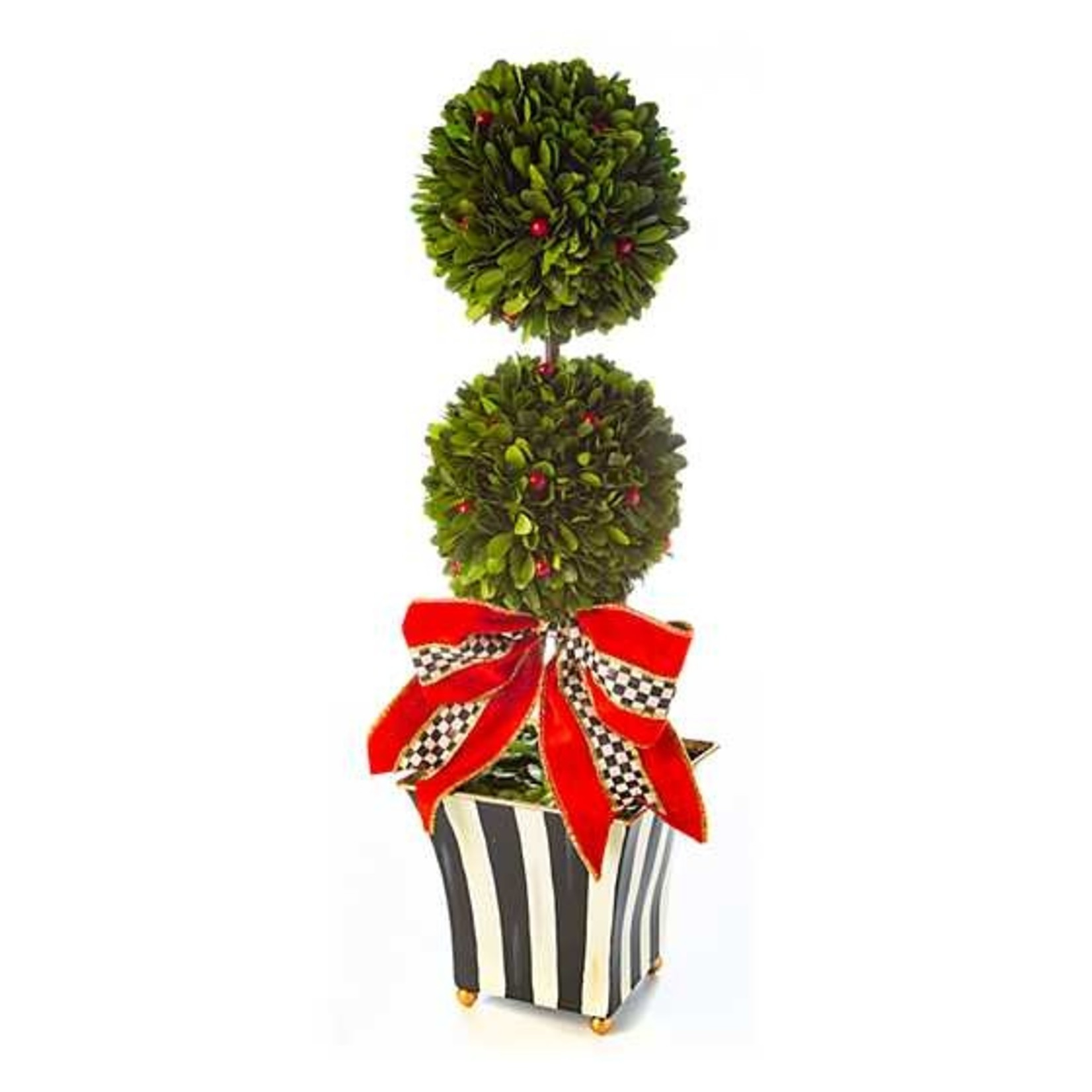 MacKenzie Childs Classic Courtly Boxwood Topiary - Large