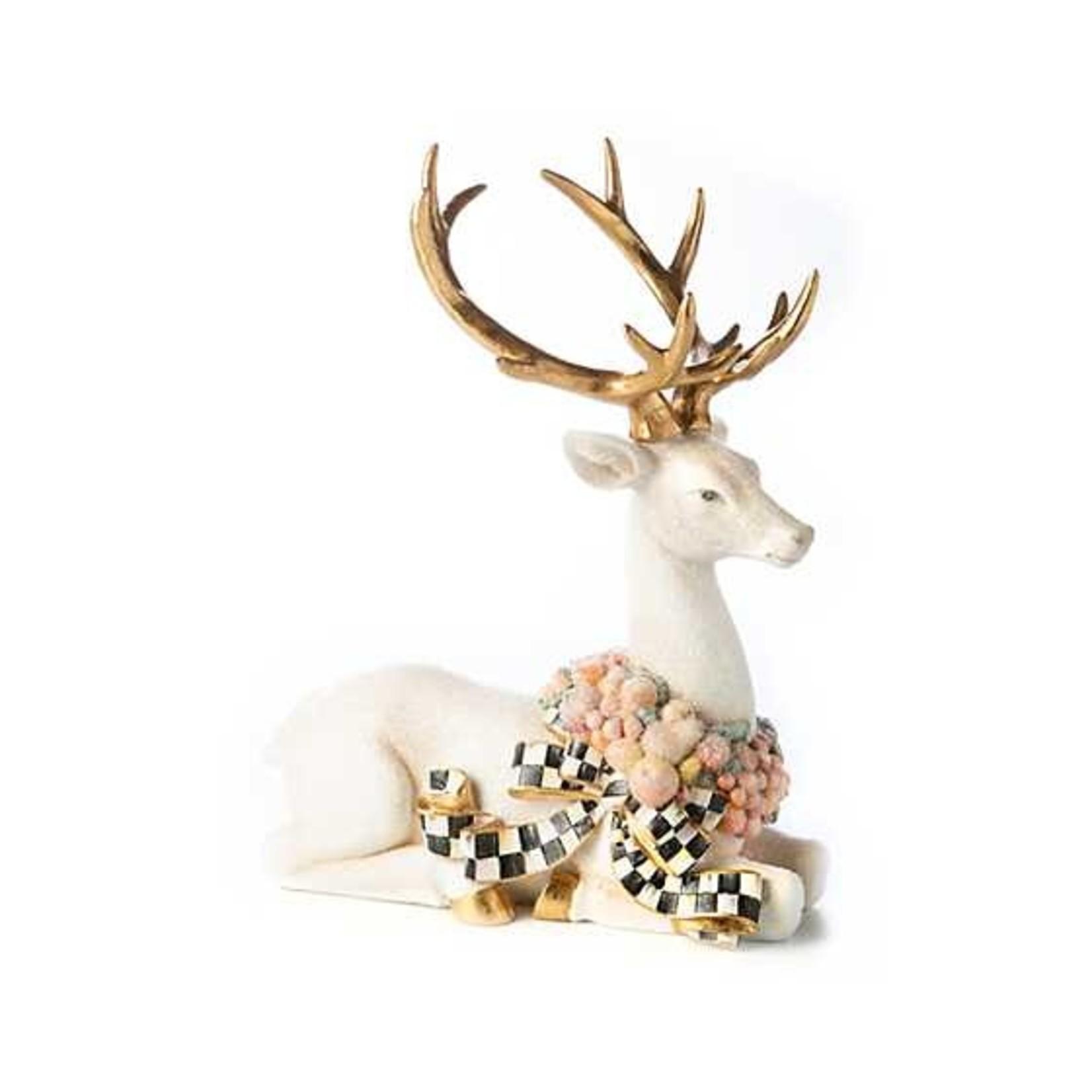 MacKenzie Childs Della Robbia Sugared Deer - Sitting
