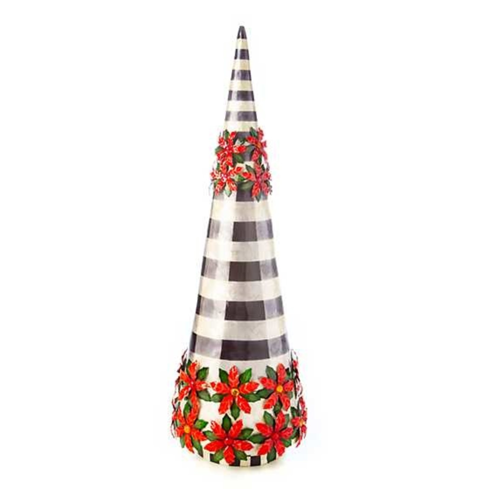 MacKenzie Childs Checkmate Poinsettia Tree - Large