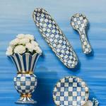 MacKenzie Childs Royal Check Great Vase