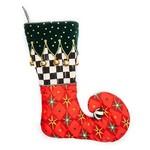 MacKenzie Childs Jester Stocking - Red