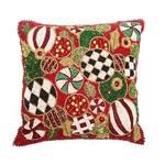 MacKenzie Childs Jolly Ornaments Pillow