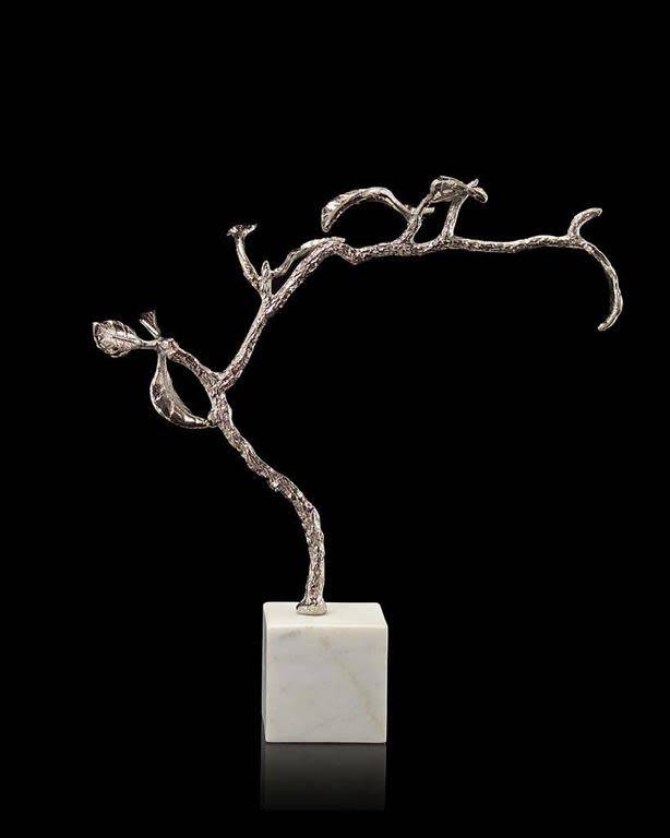 John Richard Polished Nickel Swaying Twig
