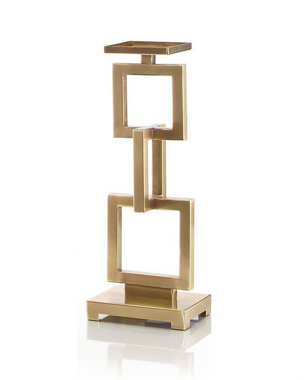 John Richard Small Candlestand with Linked Rectangles