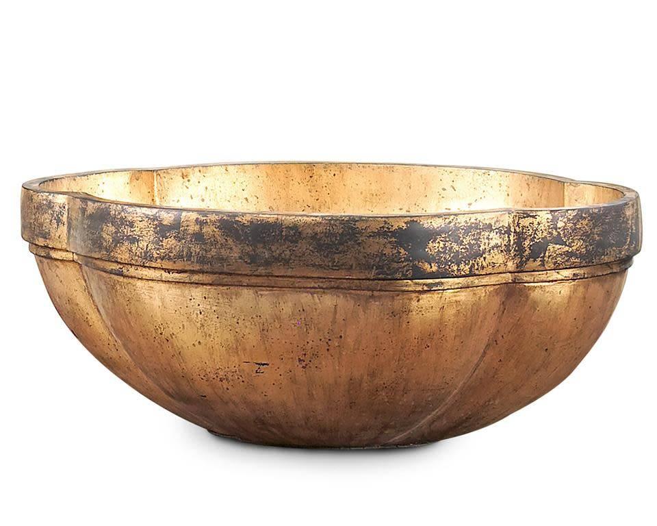 John Richard Antique Gold Oval Bowl