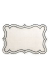 MacKenzie Childs scroll placemat - silver