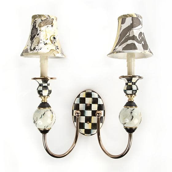 MacKenzie Childs Courtly Palazzo Double Sconce