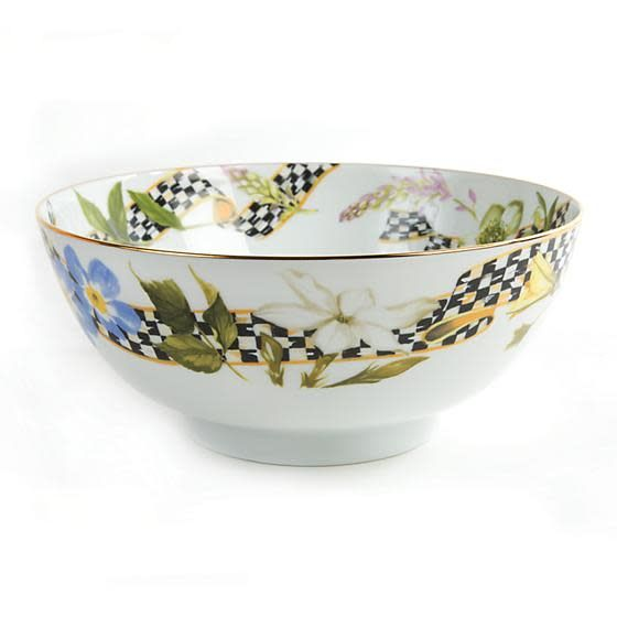 MacKenzie Childs Thistle & Bee Serving Bowl