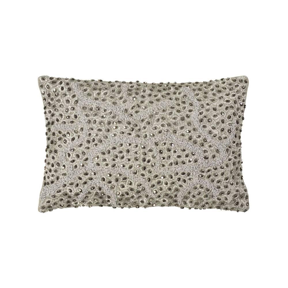 Michael Aram 8x12 Pomegranate Beaded Decorative Pillow Antique Silver