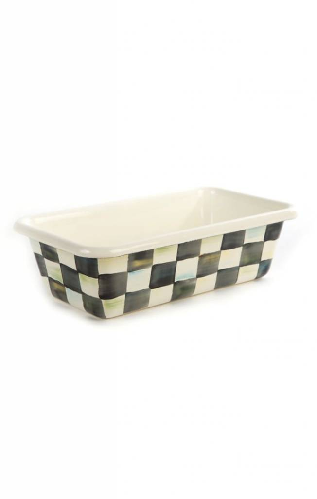 MacKenzie Childs Courtly Check Enamel Loaf Pan