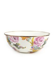 MacKenzie Childs Flower Market Medium Everyday Bowl - White