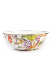 MacKenzie Childs Flower Market Extra Large Everyday Bowl - White