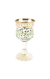 MacKenzie Childs Sweetbriar Wine Glass