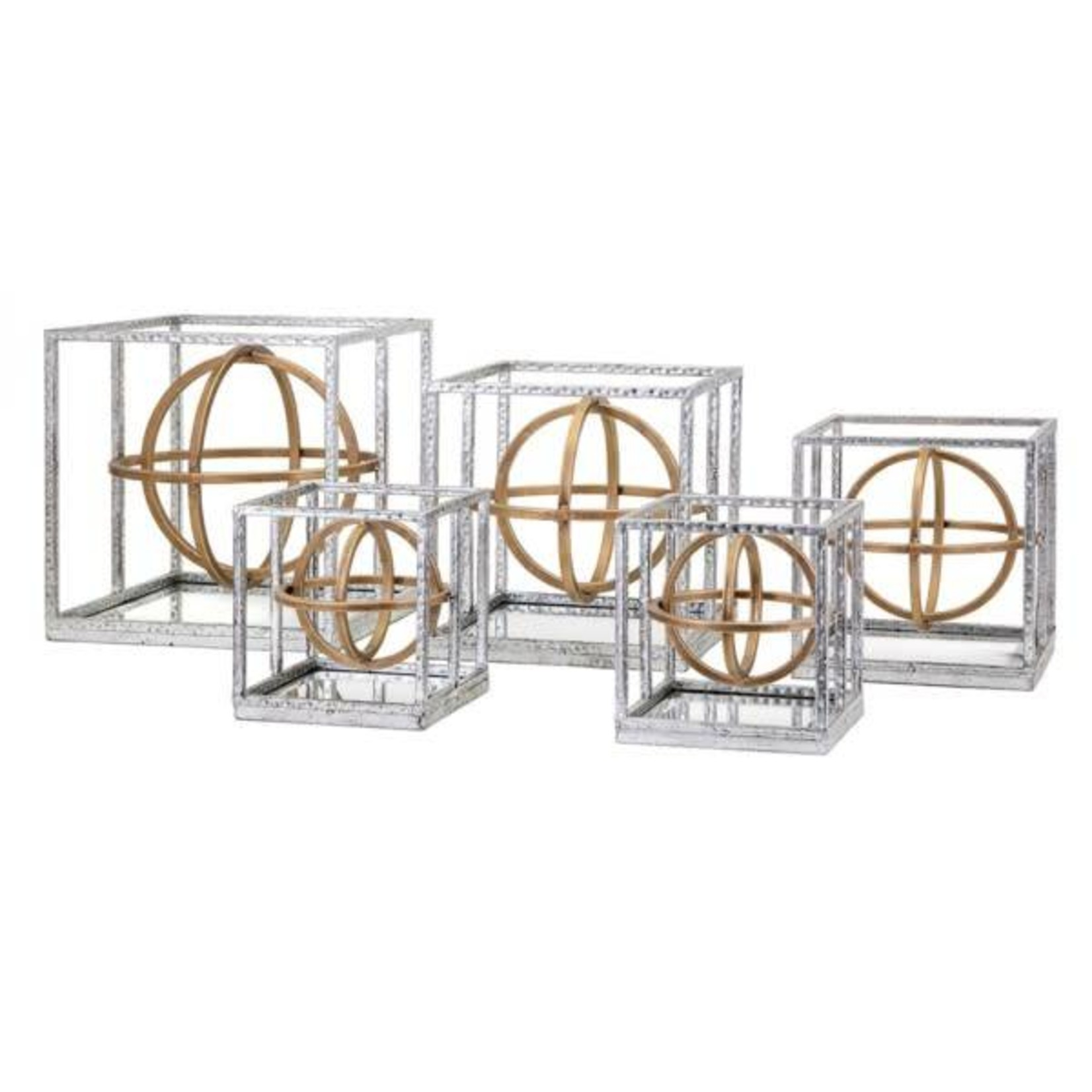 Arlette Dimensional Mirror Wall Decor - Set of 5
